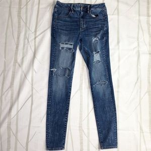 American Eagle Distressed Hi Rise Jegging